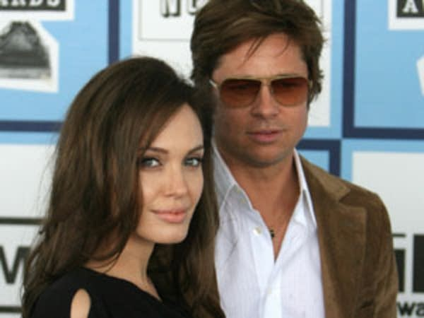 Actors Angelina Jolie and Brad Pitt