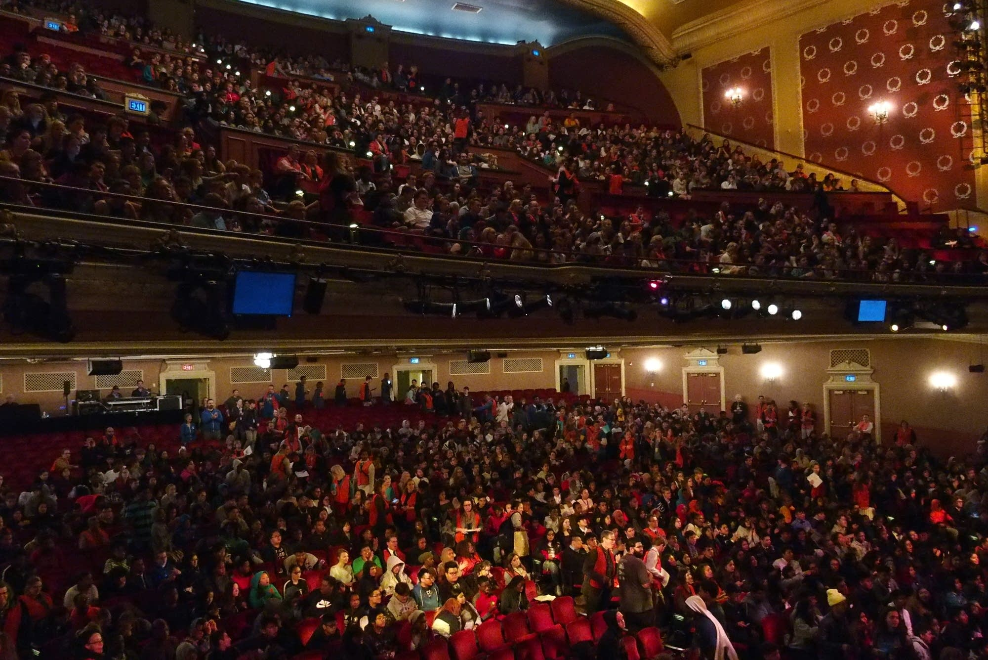 The historic Orpheum Theatre in Minneapolis was close to capacity