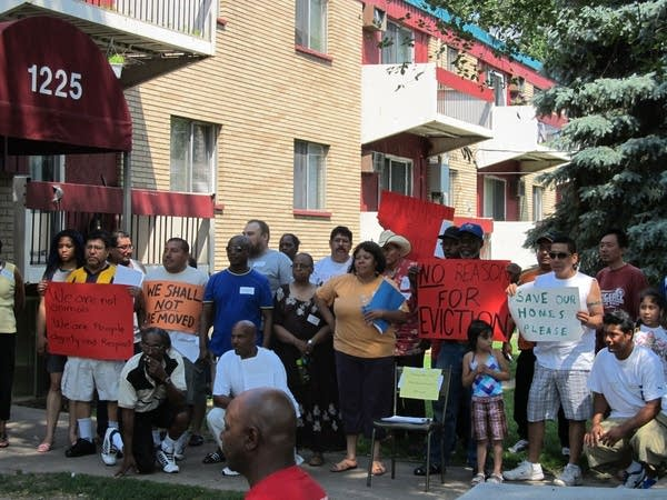 Residents protest eviction order