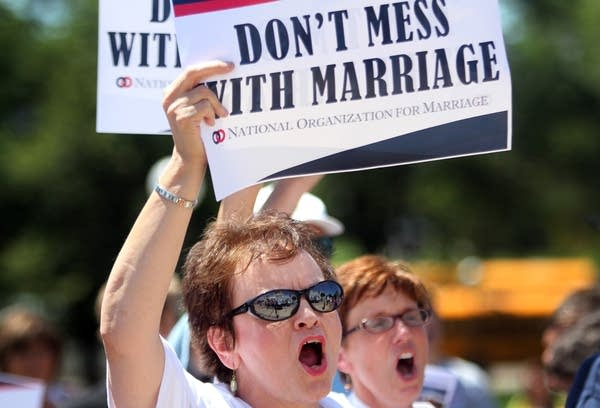 Same-sex marriage opponent