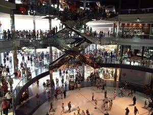 The Mall of America, the day after it opened in 1992