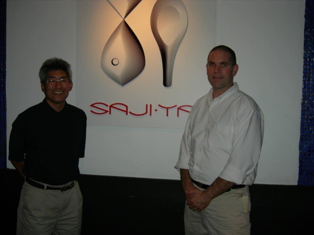 Saji Ya owners Billy  Sumada and Pat Kallemeyn