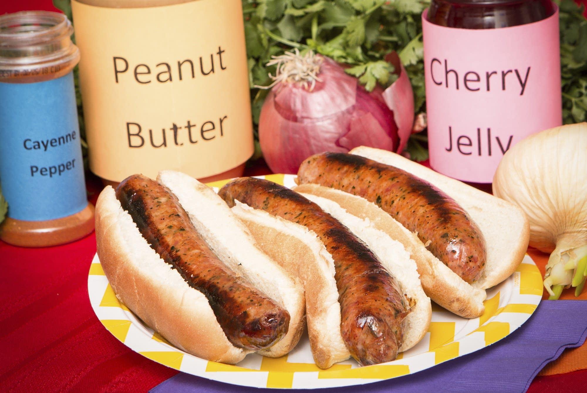 Zesty PB & J sausage