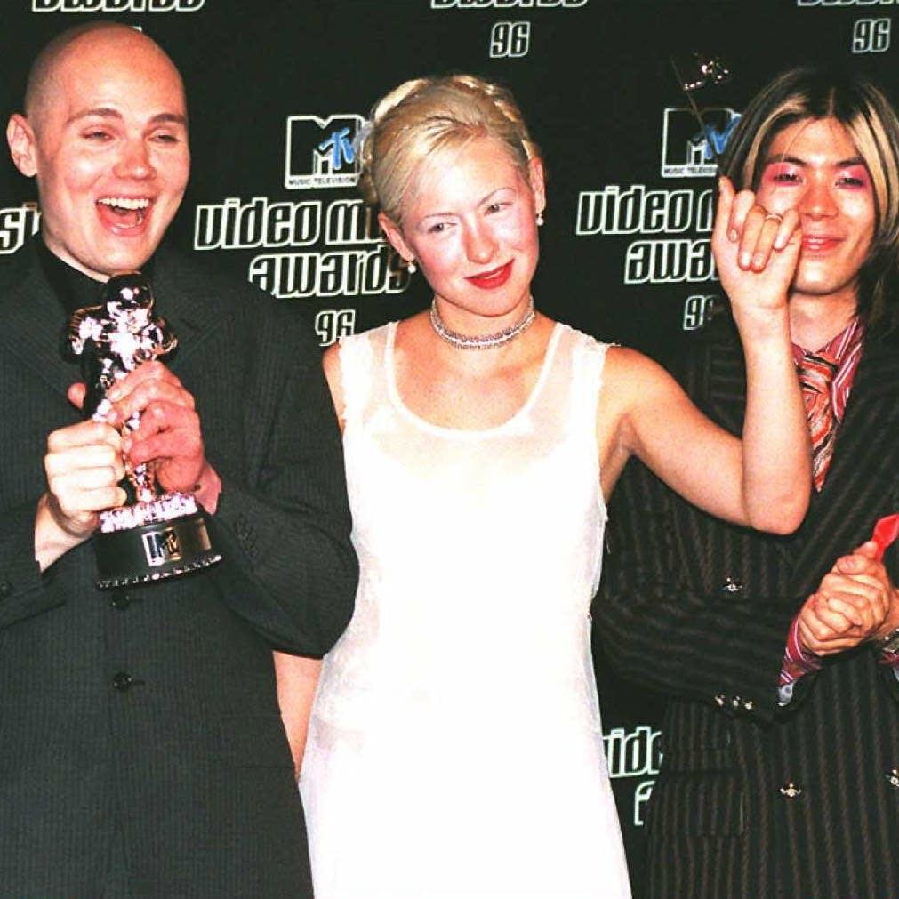 Smashing Pumpkins at the MTV Video Music Awards in 1996.