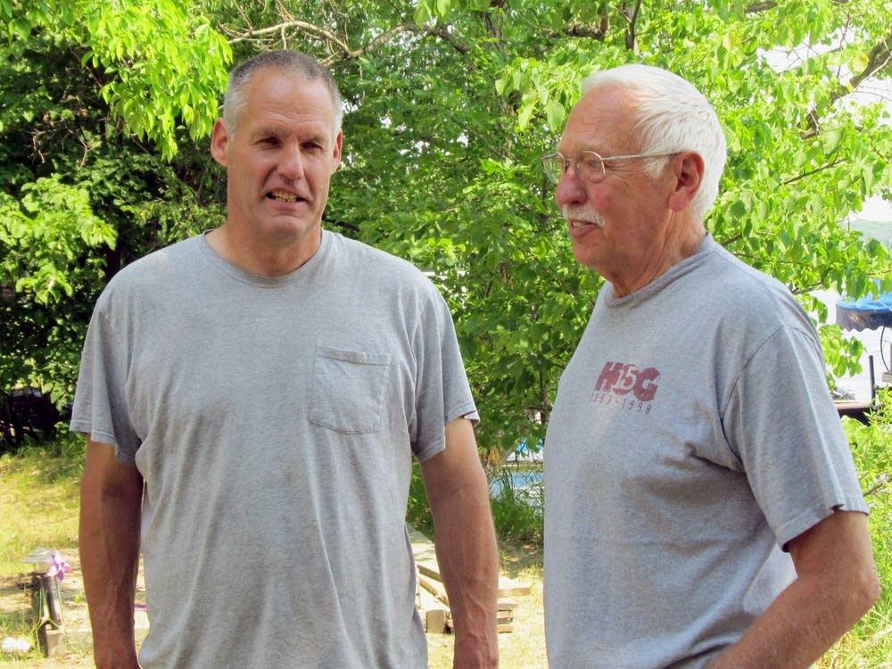 Marion Lake neighbors Rick Snelgrove and Earl Gord