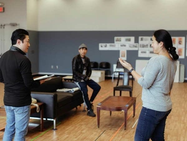 Rehearsal for The Great Leap by Lauren Yee.