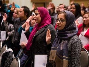 Fateme Farmad becomes a U.S. citizen.