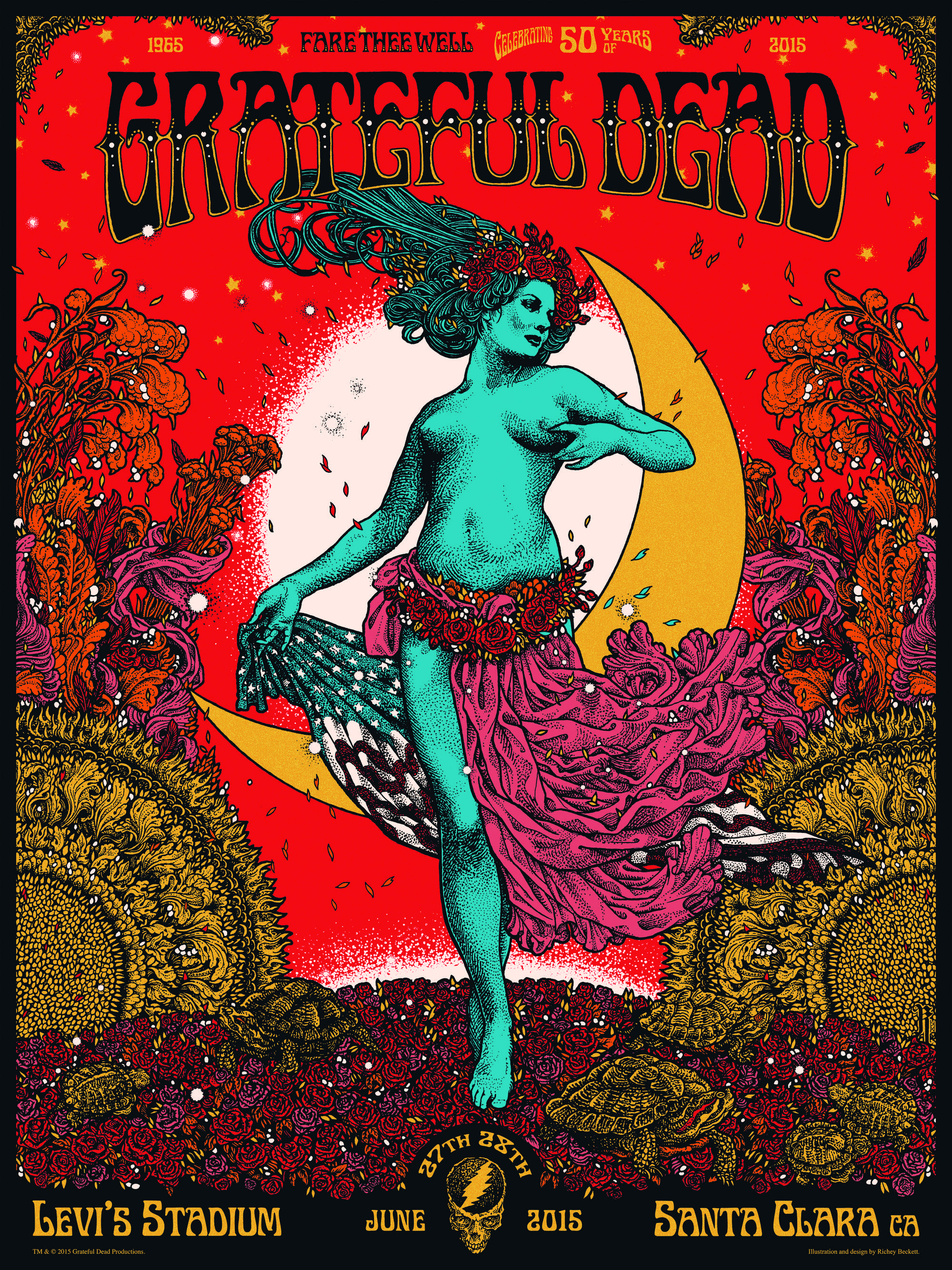 Grateful Dead poster, from 'OMG Posters'