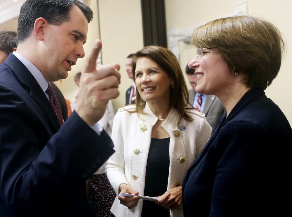Walker, Bachmann and Klobuchar