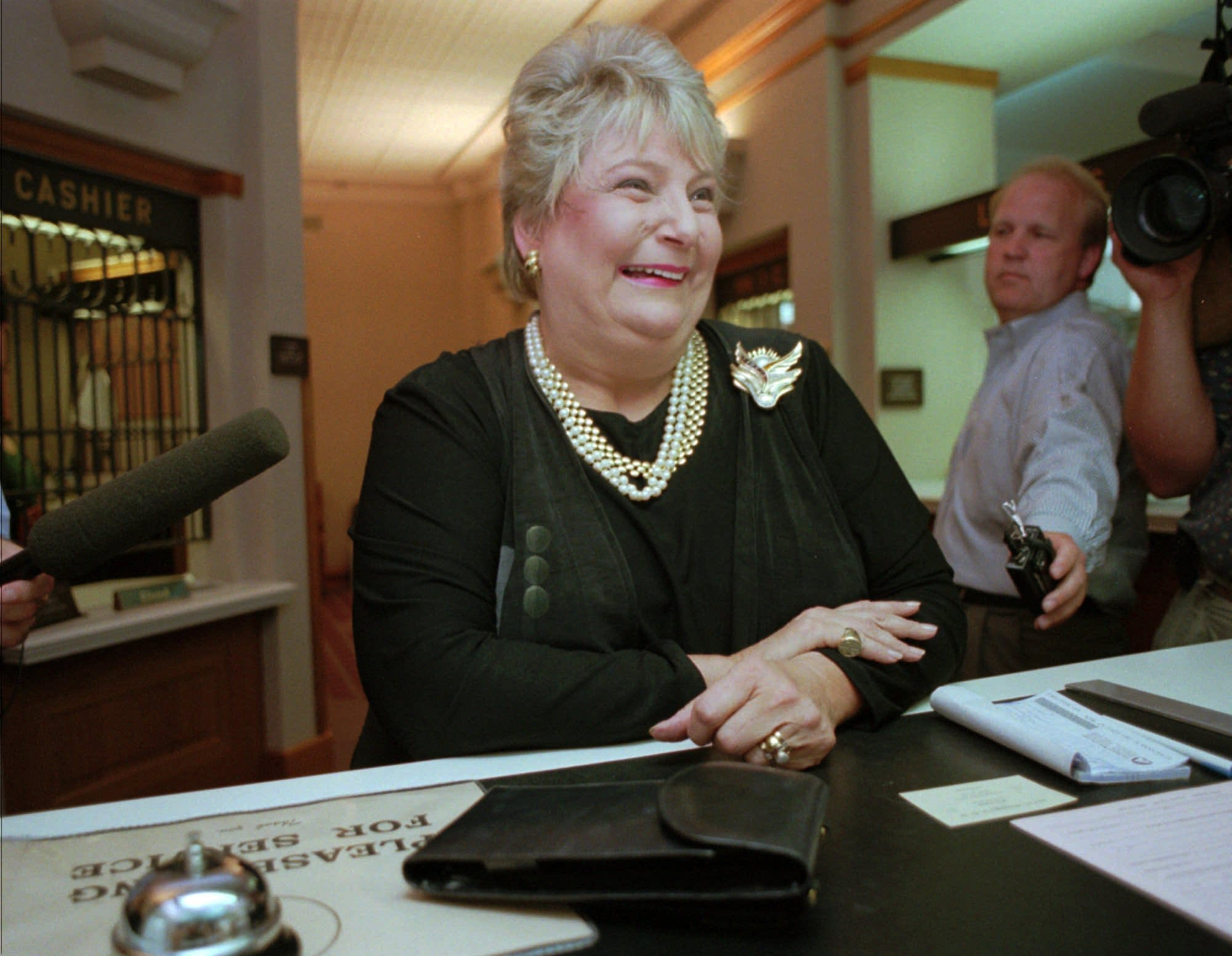 Former talk show hostess and gubernatorial ex-wife Barbara Carlson.