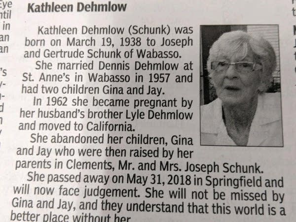 Obituary for Kathleen Dehmlow
