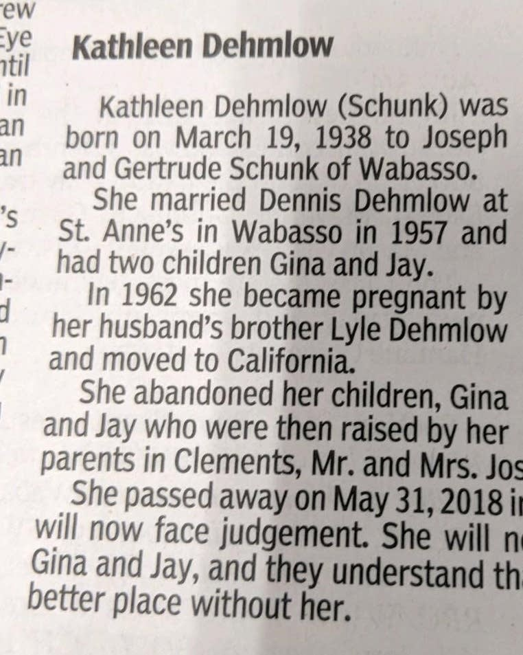 Who's responsible when an obituary seems like an attack ad