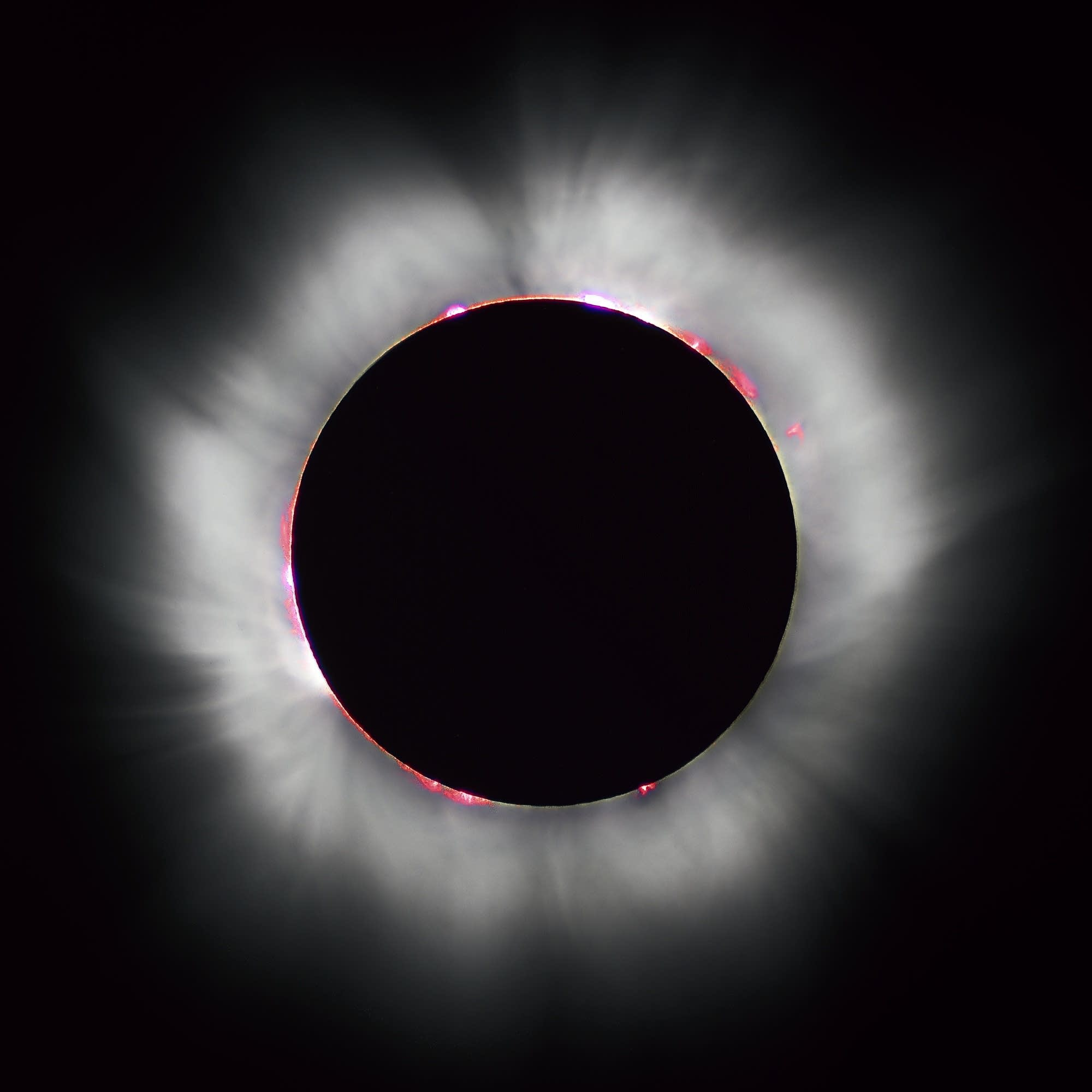 Totality during the 1999 solar eclipse