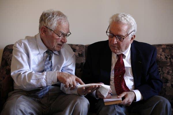 Ernie Gross, left, and Don Greenbaum