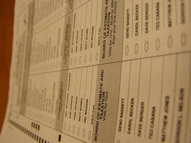 Sample runoff ballot