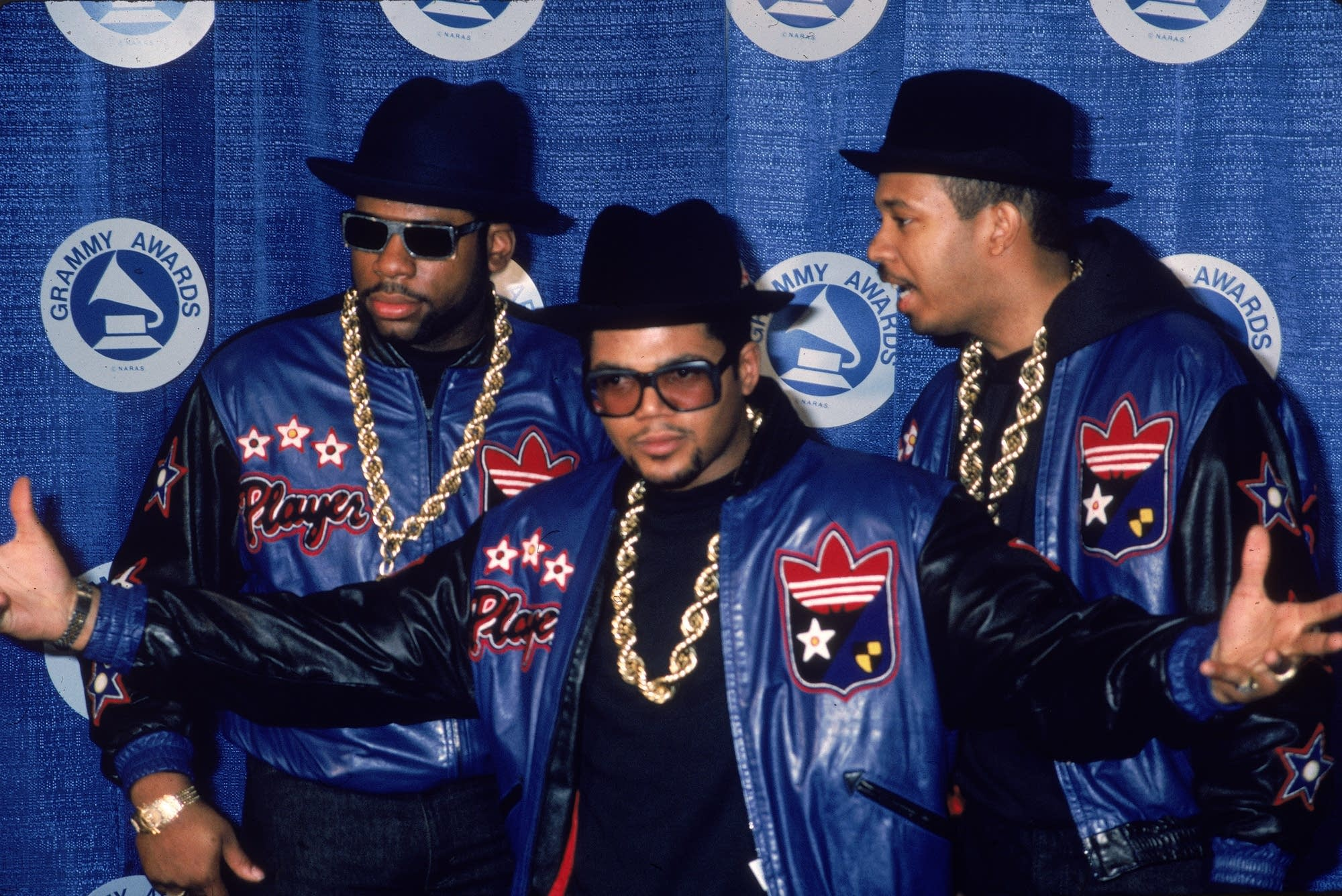 Run-DMC at the Grammys in 1987.