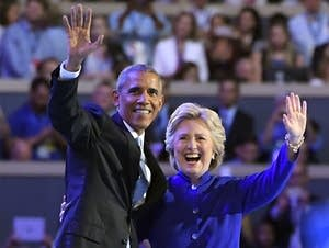President Obama and Hillary Clinton
