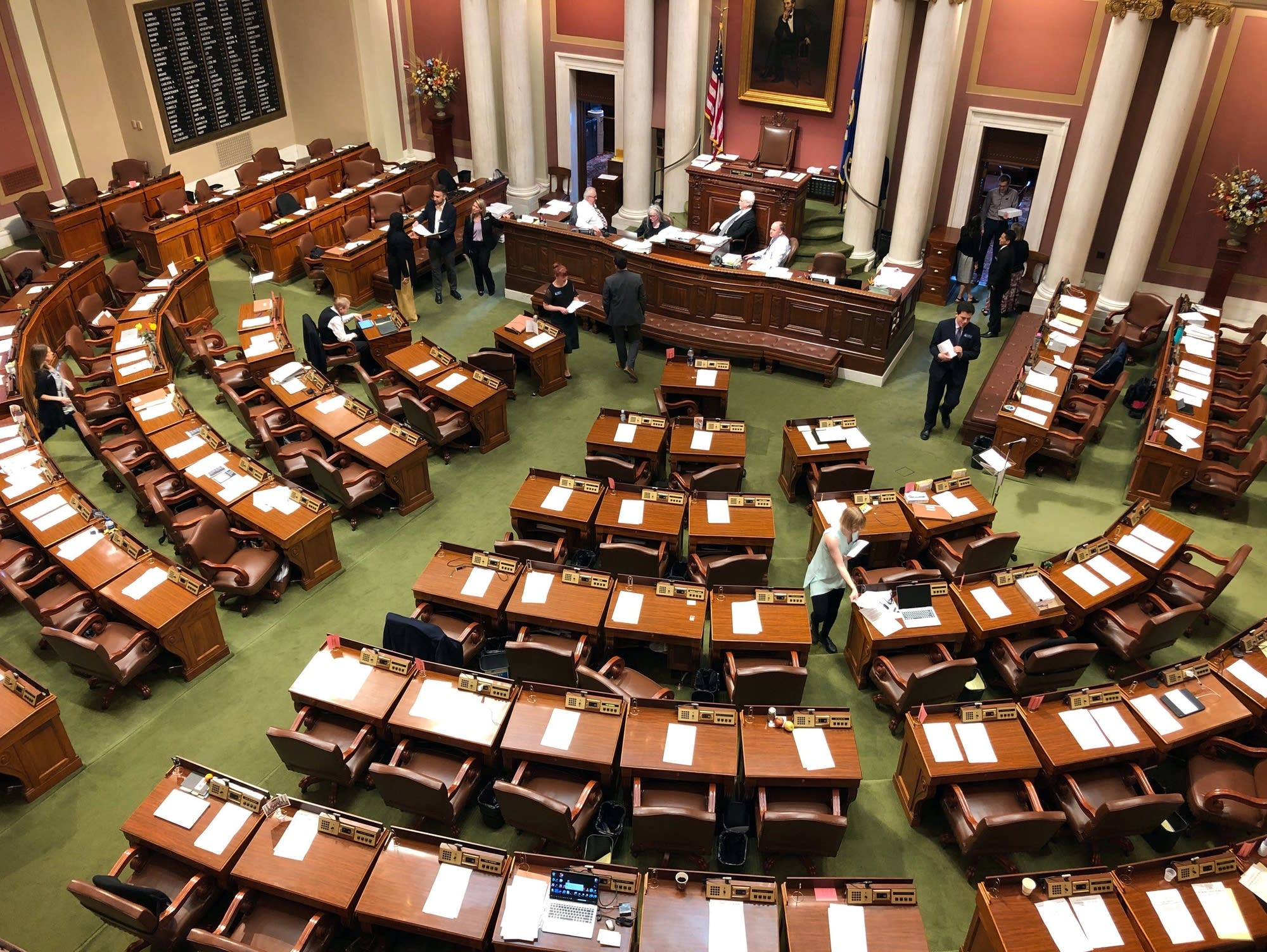 The Minnesota House chamber at the State Capitol in St. Paul.