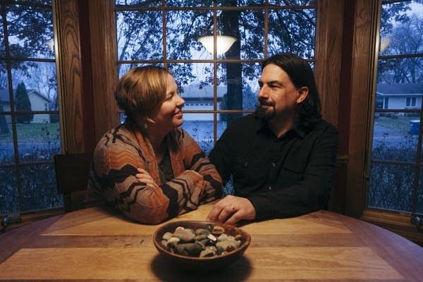 Melissa and Samuel Bergstrom sit for portrait.