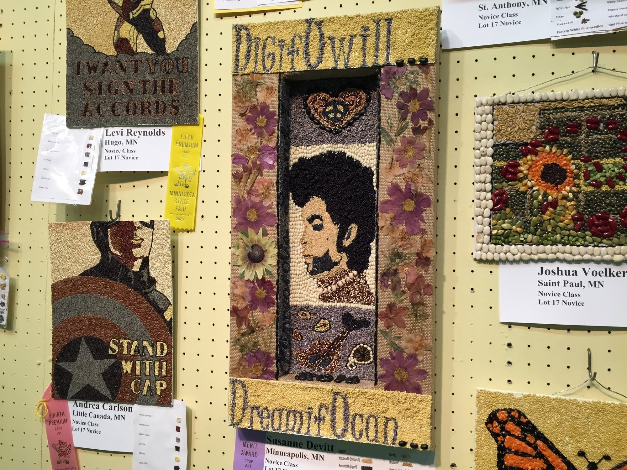 Prince seed art portrait from the 2016 Minnesota State Fair