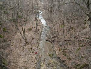 A stream near Minnemishinona Falls