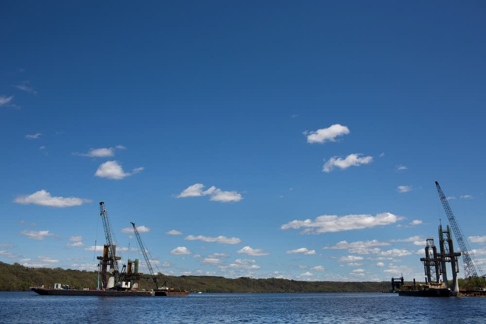 St. Croix Crossing construction