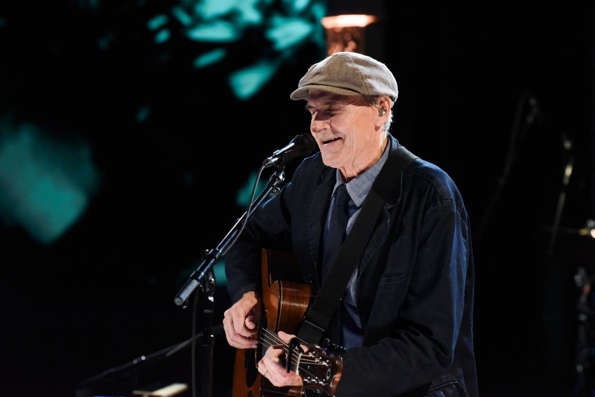 James Taylor performs on 'The Late Show with Stephen Colbert'