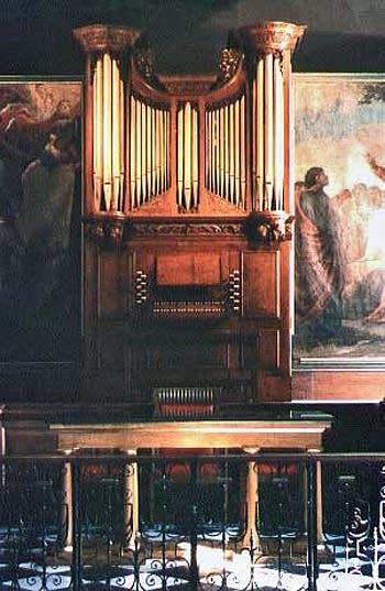 1990 Goetze & Gwynn organ at Saint Lawrence in Whitchurch, England, UK
