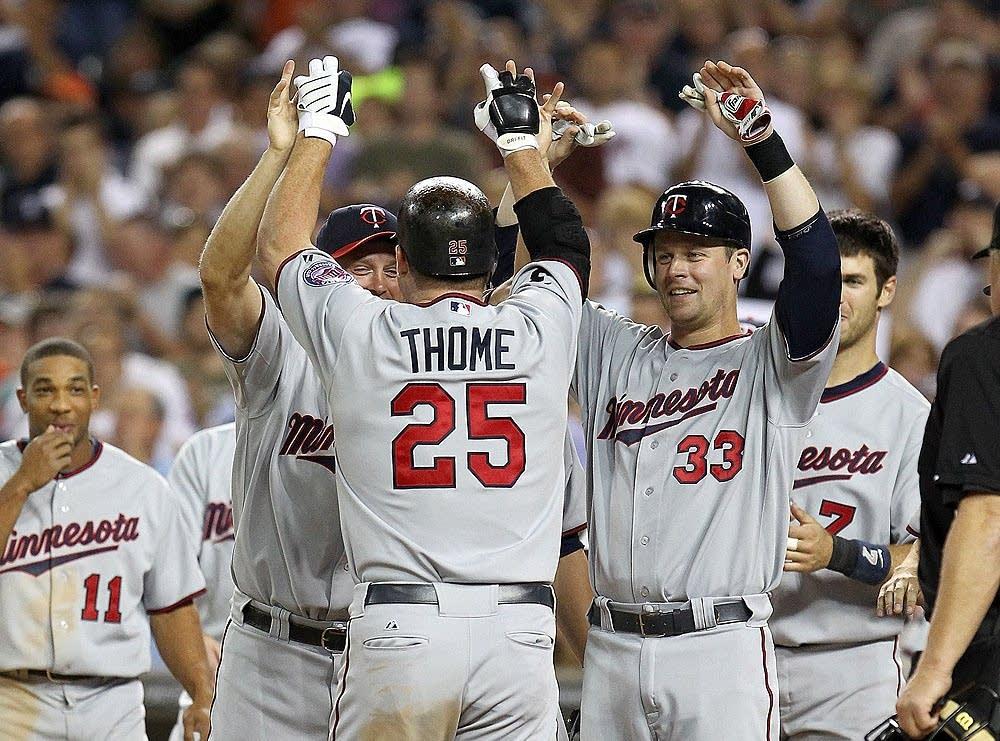 Thome celebrates