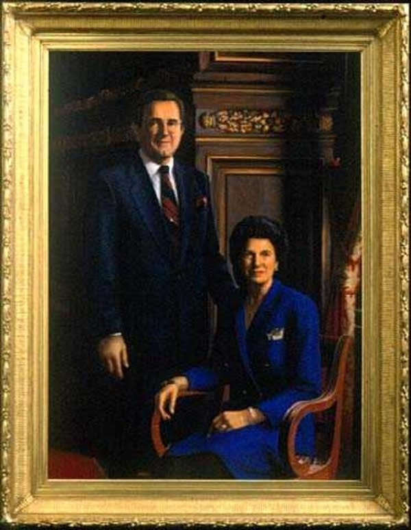 Portrait of Governor Rudy Perpich and First Lady Lola Perpich