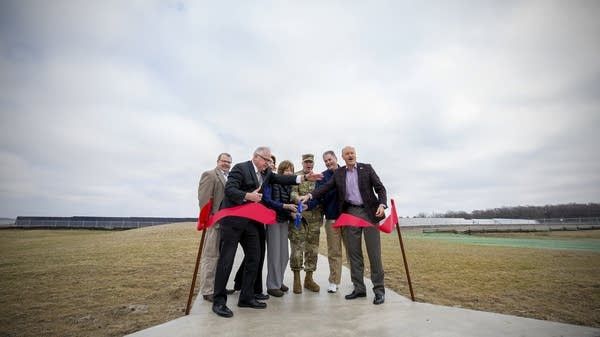 Ribbon-cutting at launch of Camp Ripley's solar