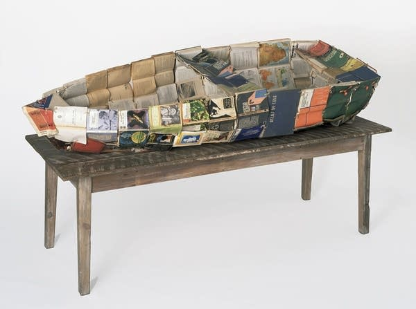Boat made of books