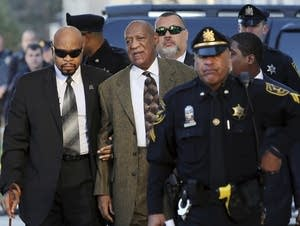 Bill Cosby arrives for a court appearance