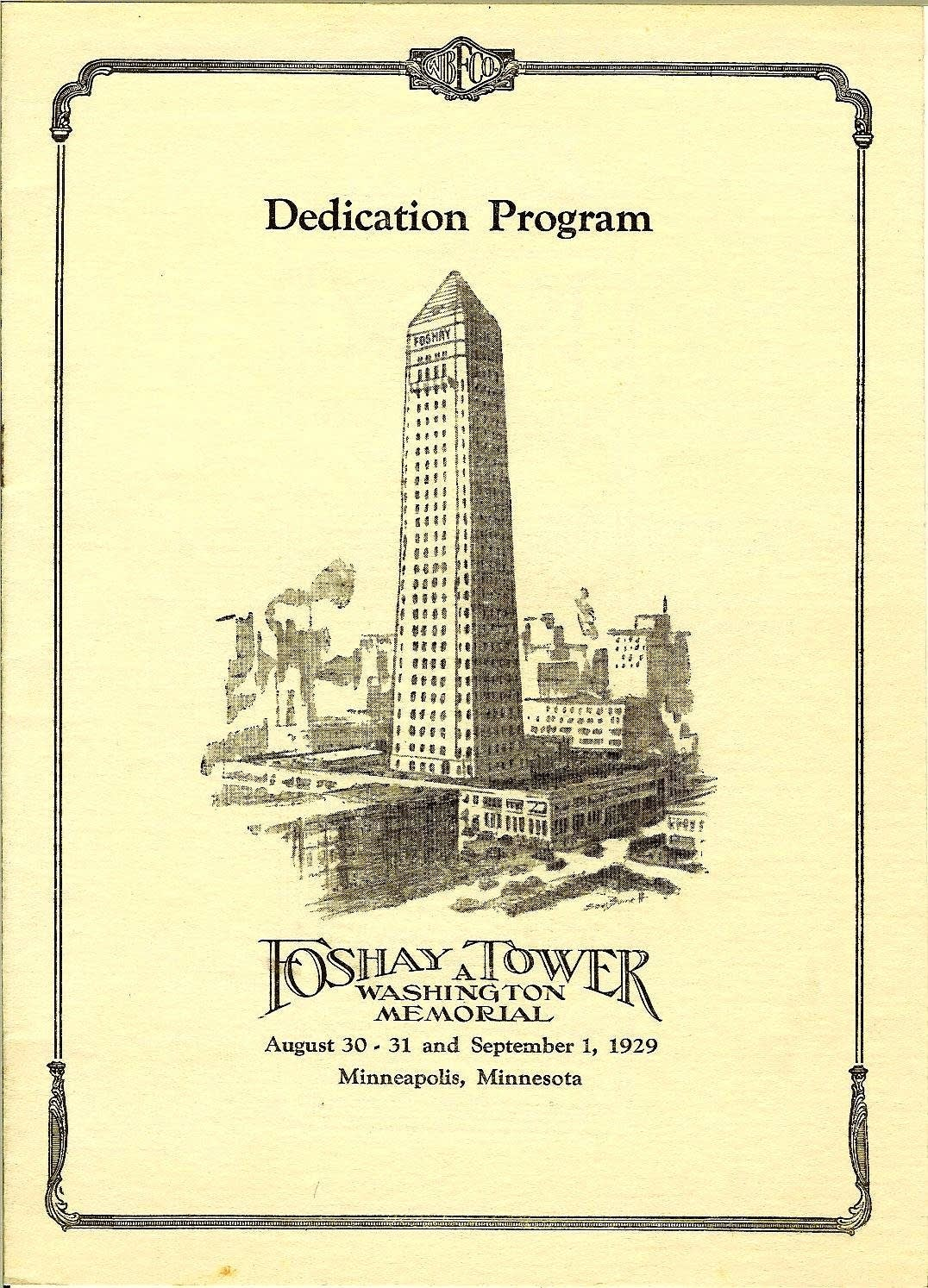 Foshay Tower Dedication Program