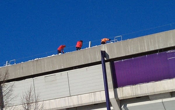 Workers at the dome