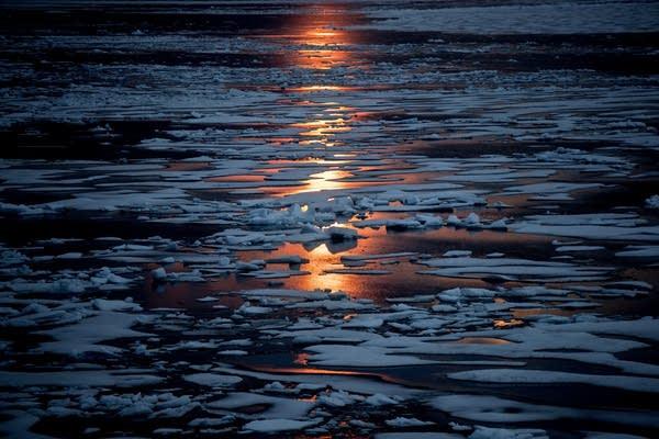 Sea ice along the Northwest Passage