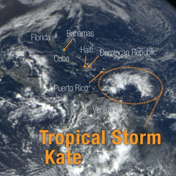 Beginnings of Tropical Storm Kate