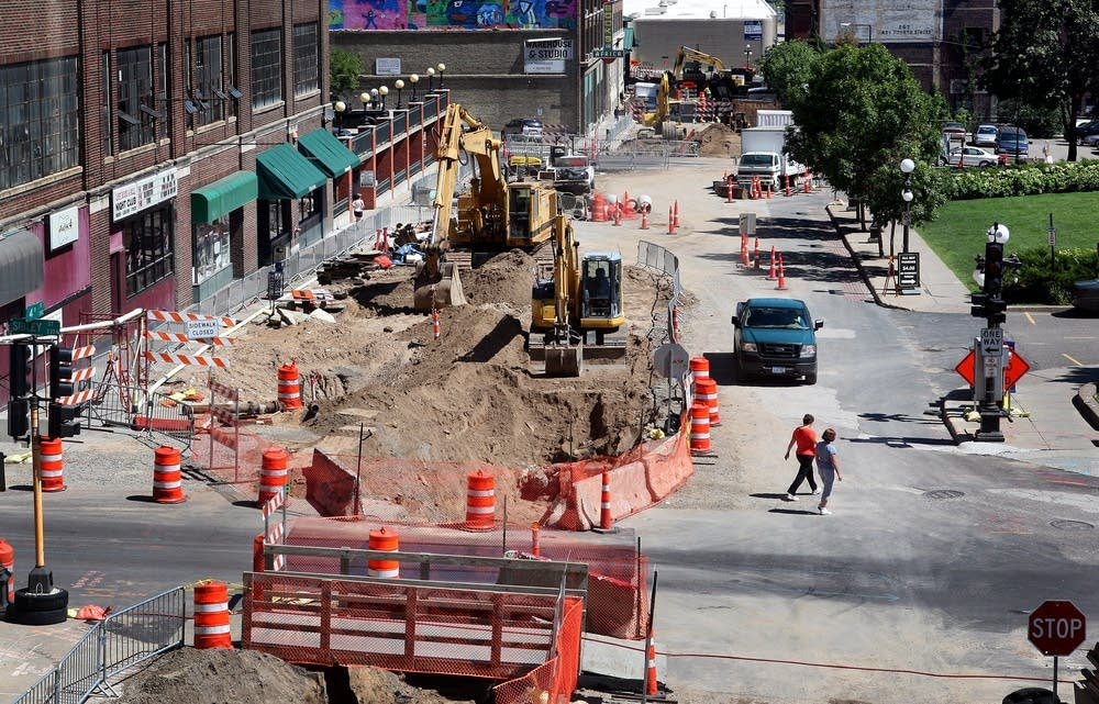 Construction on Fourth Street