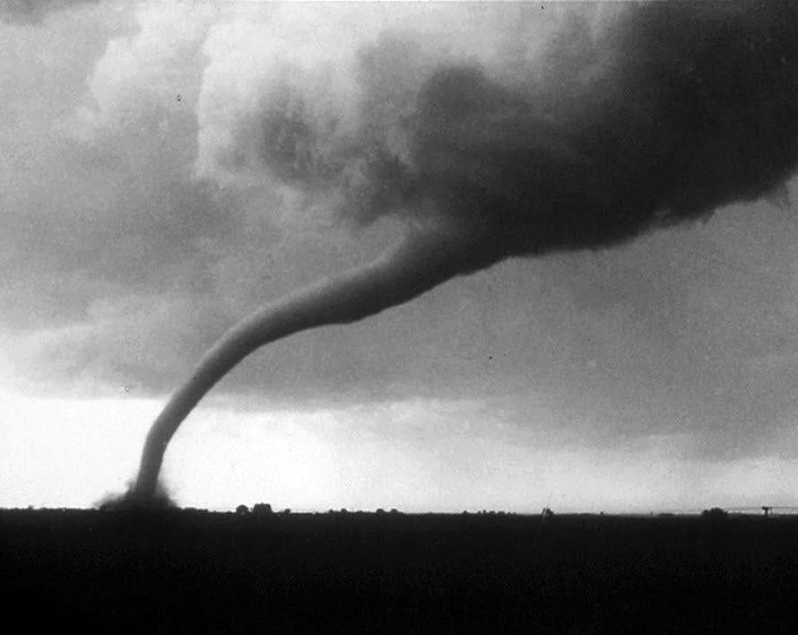 Eric Lantz took photos of the twister after it moved out of Tracy