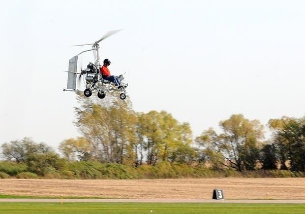 Gyrocopter landing