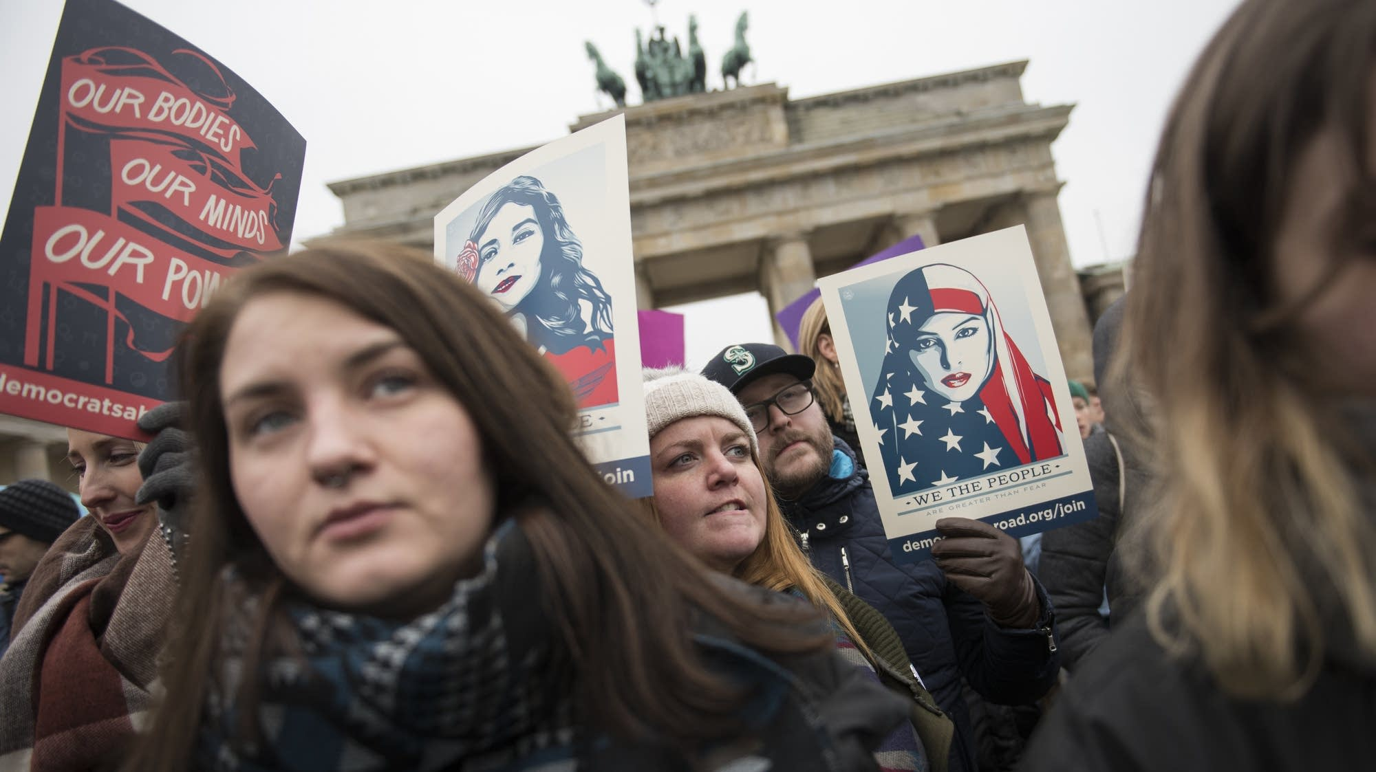Berlin, Germany: March in solidarity with the Women's March on Wash.