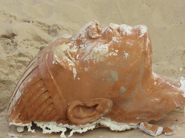 The 300-pound sphinx