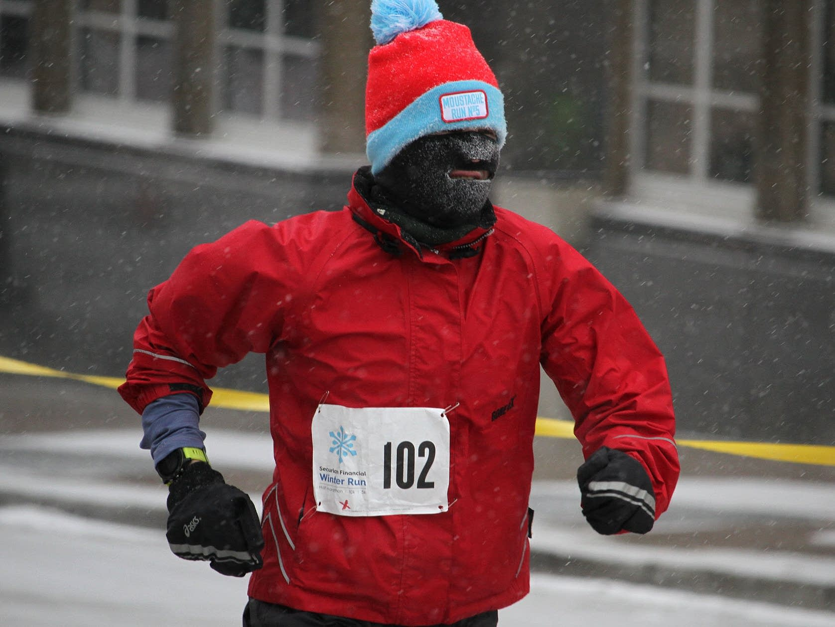 Runners at the Securian Winter Run in St. Paul