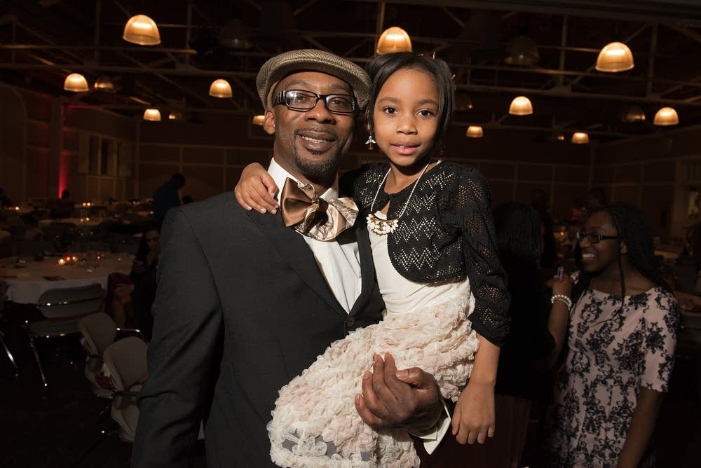 Terry Cargill and his daughter Latiah, 8
