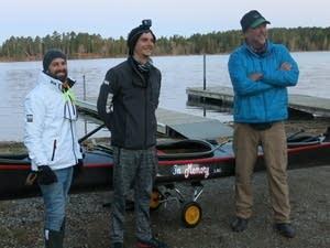 Nate Lastinger, Kevin Eckelkamp and K.J. Millhone pose for a photo.