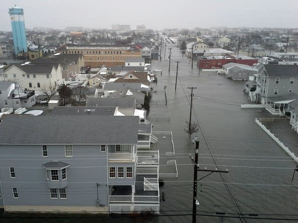 Coastal flooding in New Jersey.