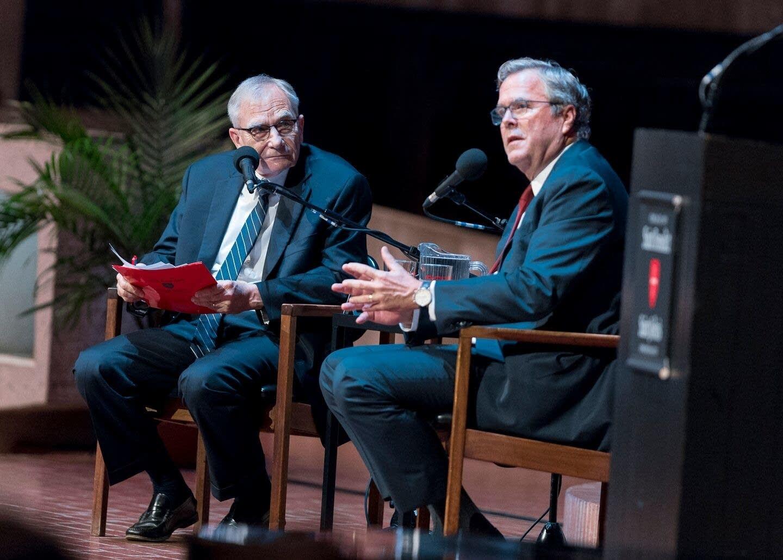 Jeb Bush speaks with Gary Eichten.