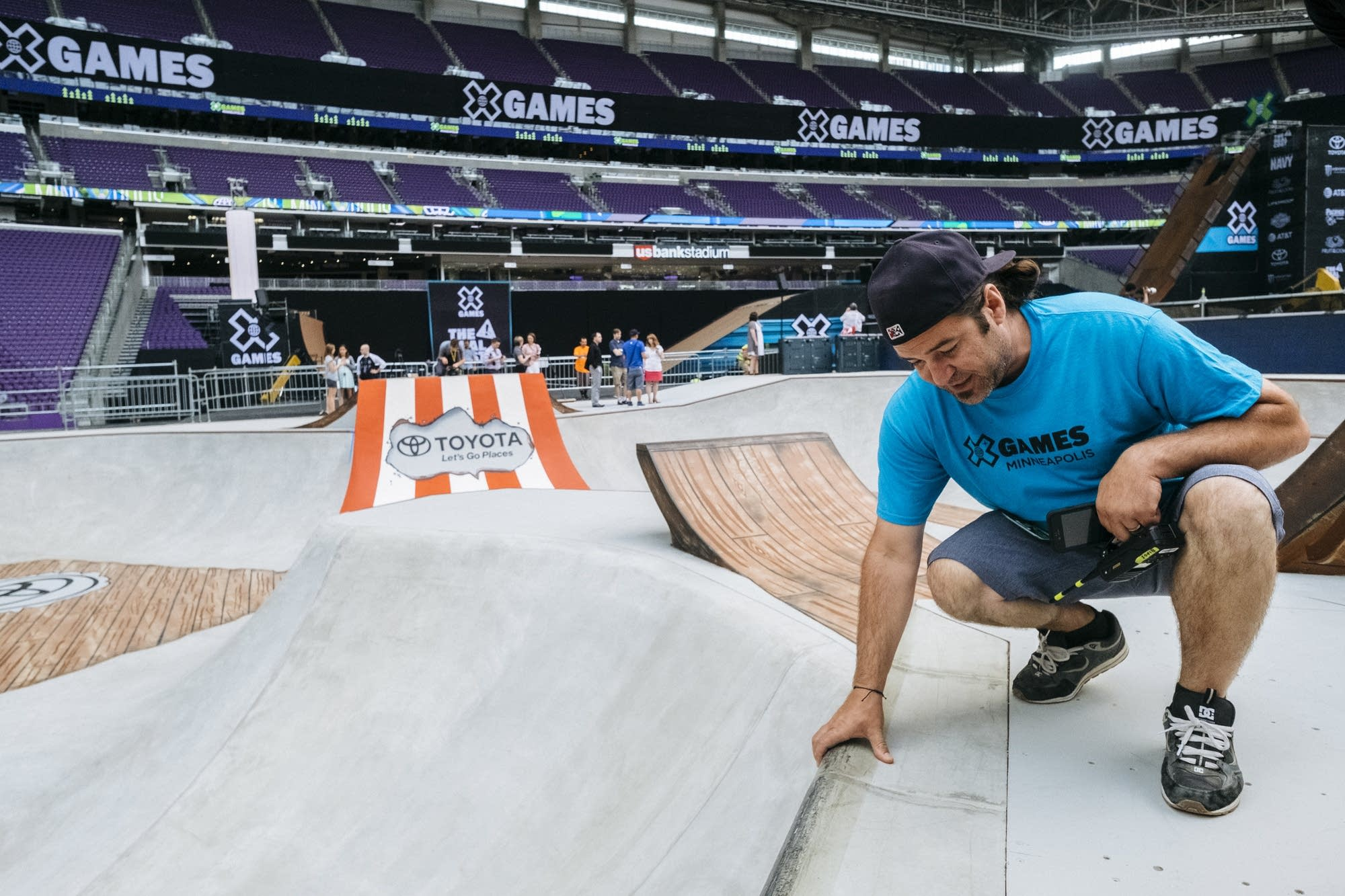 Rich Bigge shows off the Street Course.