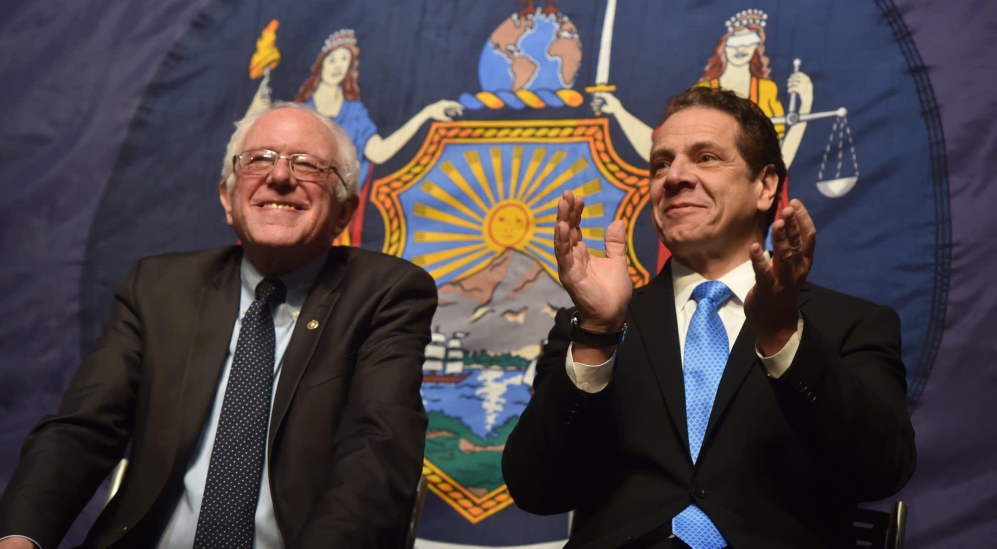 Sen. Bernie Sanders and Gov. Andrew Cuomo