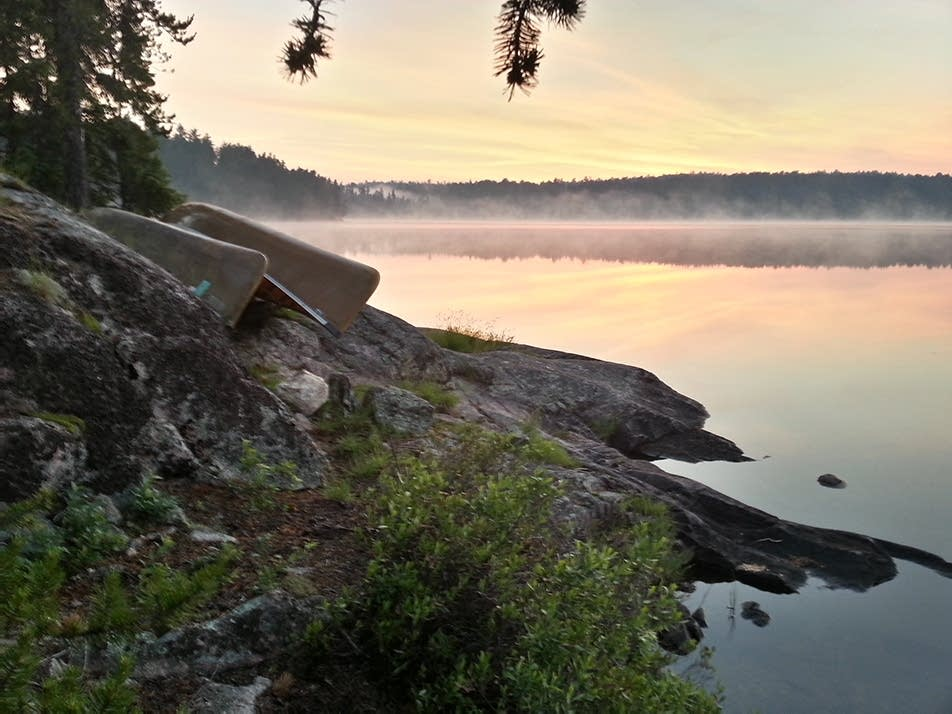 Morning fog on Lynx Lake in the BWCAW.